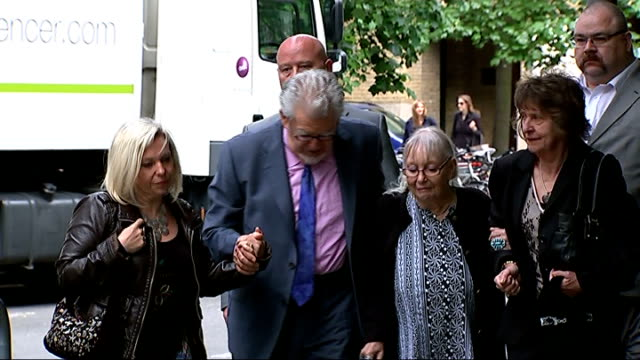 alleged victim gives evidence england london southwark crown court photography *** rolf harris arriving at court with daughter bindi and wife alwen... - rolf harris stock videos and b-roll footage