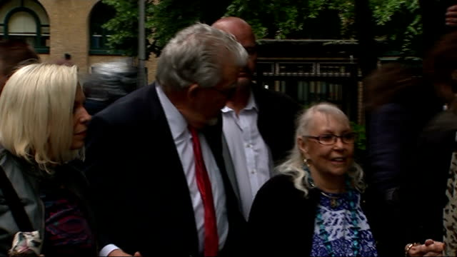 harris admits to having a 'dark side' england london southwark crown court photography *** rolf harris along towards court with his wife alwen hughes... - body adornment stock videos and b-roll footage