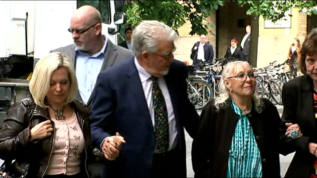 harris talks of daughter's reaction to charges england london southwark ext rolf harris wife alwen daughter bindi and others arriving at southwark... - bindi stock videos and b-roll footage