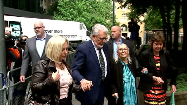 harris talks of daughter's reaction to charges southwark harris wife alwen daughter bindi and others arriving at southwark crown court - body adornment stock videos and b-roll footage