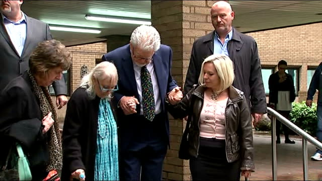 harris talks of daughter's reaction to charges england london southwark ext rolf harris wife alwen daughter bindi and others away from southwark... - body adornment stock videos and b-roll footage