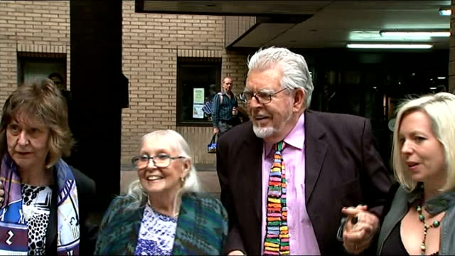 alleged victim gives evidence southwark crown court ext rolf harris wife alwen and daughter bindi along outside court - rolf harris stock videos and b-roll footage