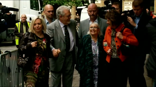 alleged victim's diary entry england london southwark crown court ext rolf harris his wife alwen hughes and daughter bindi harris arriving at court... - rolf harris stock videos and b-roll footage