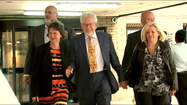 court departure england london southwark crown court ext rolf harris from court with his daughter bindi and unidentified woman past press... - bindi stock videos and b-roll footage