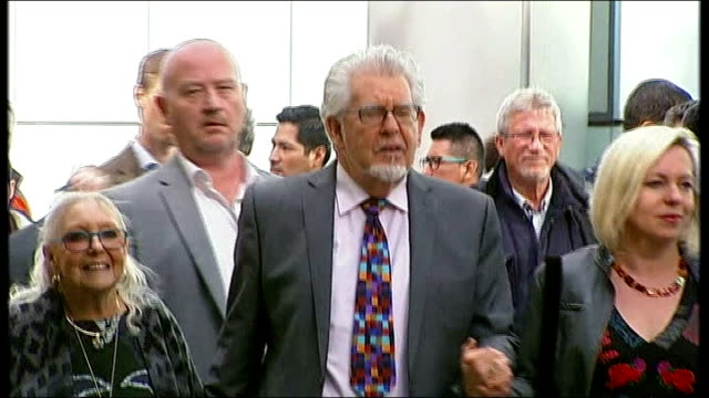 harris described as 'jekyll and hyde' character southwark crown court photography *** rolf harris leaving court holding hands with his wife alwen... - rolf harris stock videos and b-roll footage