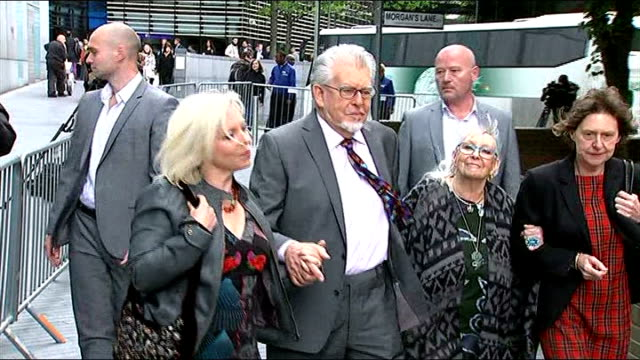 harris described as 'jekyll and hyde' character england london southwark crown court photography *** rolf harris arriving at court with his wife... - rolf harris stock videos and b-roll footage