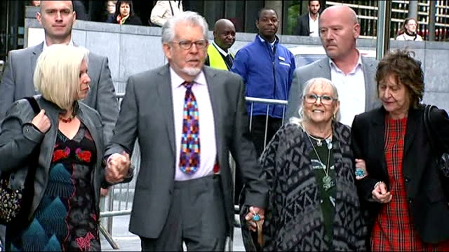 harris described as 'jekyll and hyde' character england london southwark crown court photography *** rolf harris arriving at court with his wife... - bindi stock videos and b-roll footage