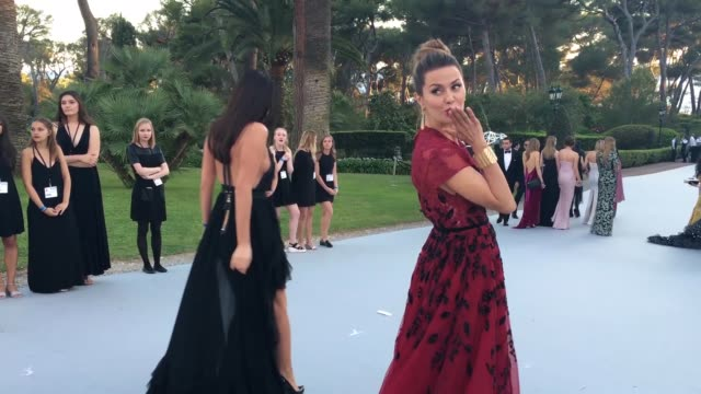 b roll behind the scenes at amfar's 23rd cinema against aids gala cocktail reception at hotel du capedenroc on may 19 2016 in cap d'antibes france - amfar stock videos & royalty-free footage