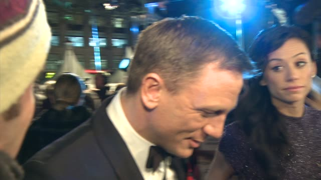 B Roll Daniel Craig at the Quantum of Solace World Premiere at London