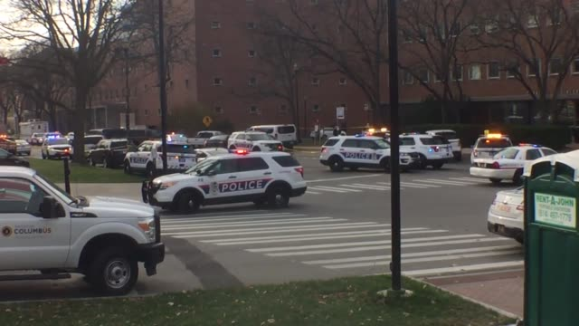 b roll footage of emergency personnel at the ohio state campus today during the stand off broll of emergency personnel at the ohio state university - ohio state university stock videos & royalty-free footage