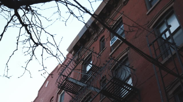 B Roll of an unrecognizable apartment complex in New York City