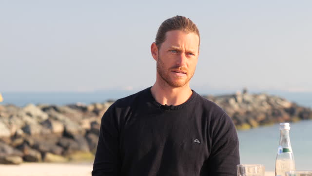 vidéos et rushes de roll of daniel van dooren, co founder and coo of surf house dubai. - b roll