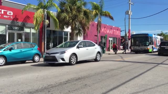 B roll of Wynwood Miami which is now Zika Free zone