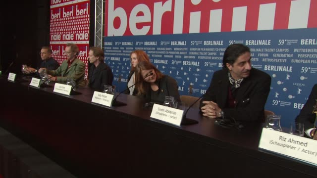 sally potter, lily cole, steve buscemi, simon abkarian at the 59th berlin film festival: rage arrivals at berlin . - steve buscemi stock videos & royalty-free footage