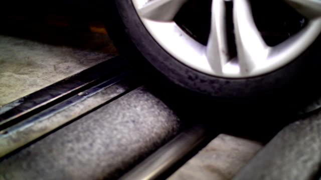 Roller brake tester.