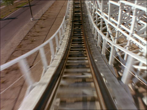 roller coaster point of view down hill then up hill - cinematography stock videos & royalty-free footage