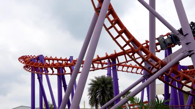 roller coaster rail - amusement park stock videos & royalty-free footage