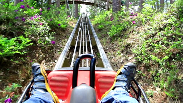roller coaster ride. - rollercoaster stock videos & royalty-free footage