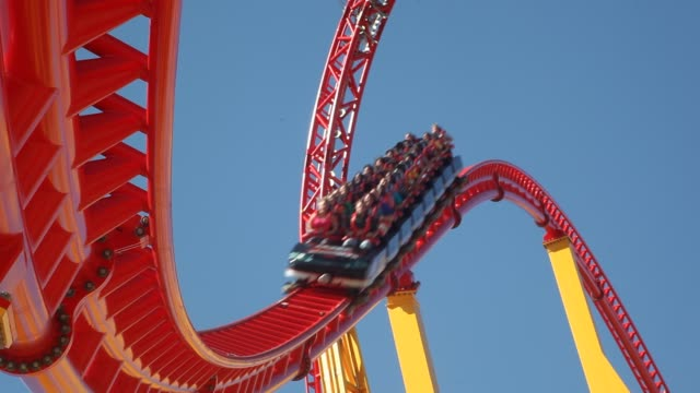 roller coaster ride - rollercoaster stock videos & royalty-free footage