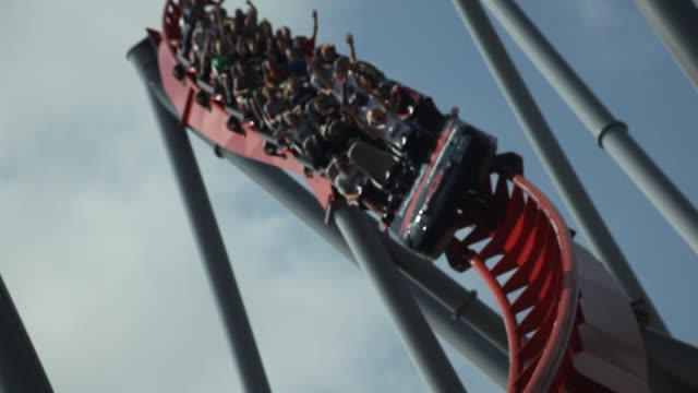 roller coaster ride - roller coaster stock videos and b-roll footage