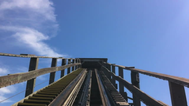 pov roller coaster - rollercoaster stock videos & royalty-free footage