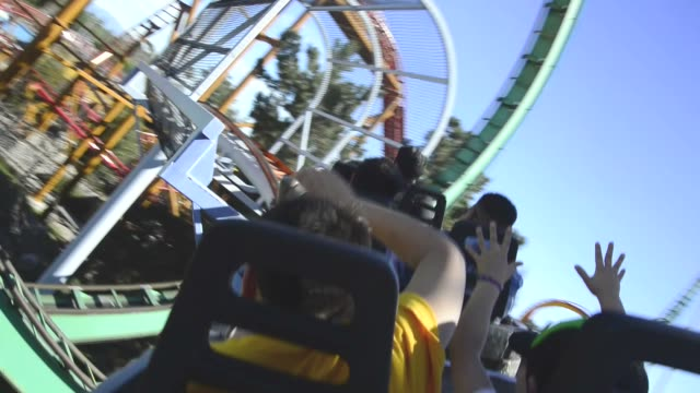 roller coaster - upside down stock videos and b-roll footage