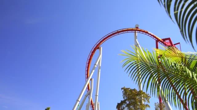 roller coaster - anaheim california stock videos & royalty-free footage