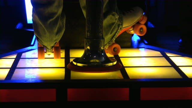 roller skating - disco dancing stock videos & royalty-free footage