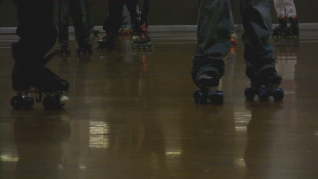 roller skating - ice rink stock videos & royalty-free footage