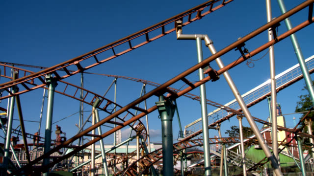rollercoaster on a sunny day - prater park stock videos & royalty-free footage