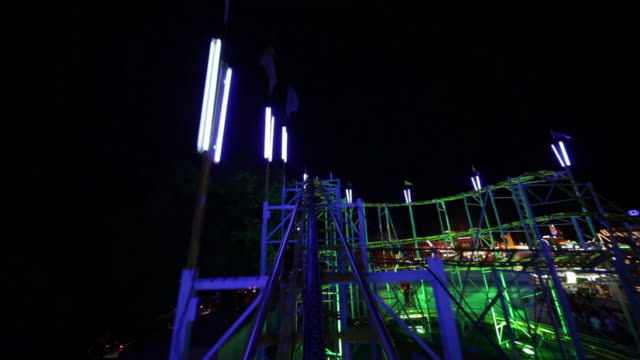 rollercoaster ride part 1/3 - roller coaster stock videos and b-roll footage