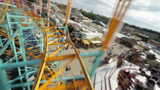 rollercoaster ride (part 2/3) - point of view stock videos & royalty-free footage