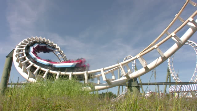 rollercoaster rollover hd - rollercoaster stock videos & royalty-free footage