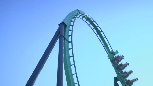 rollercoaster - rollercoaster stock videos & royalty-free footage