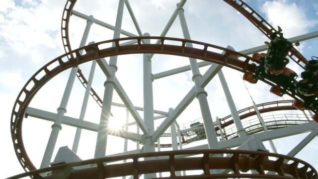 rollercoaster - roller coaster stock videos & royalty-free footage