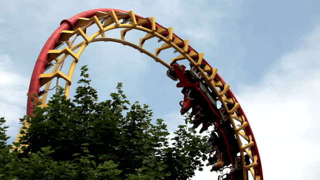 rollercoaster - roller coaster stock videos and b-roll footage
