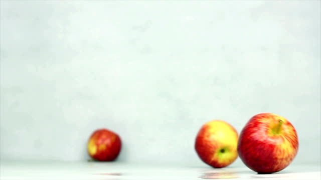 rolling apples - rolling stock videos & royalty-free footage