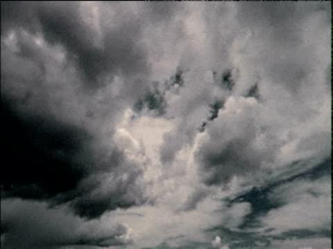 Rolling clouds in dark sky