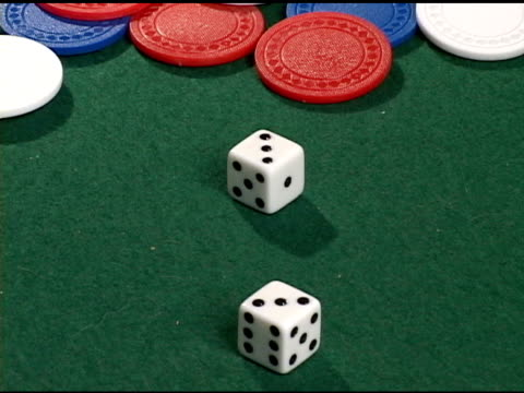 rolling dice - 3 shots in one - craps stock videos & royalty-free footage