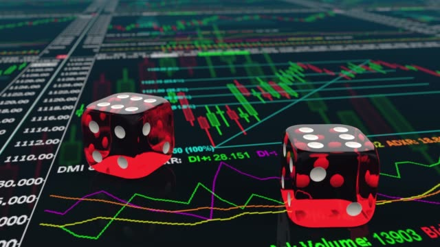 rolling dice on stock trading charts and getting six six - dice stock videos & royalty-free footage