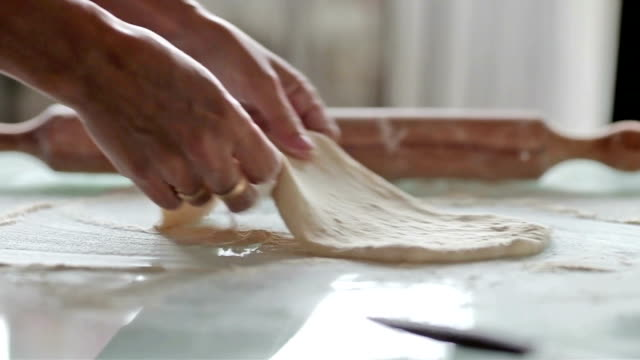 rolling dough - dough stock videos & royalty-free footage