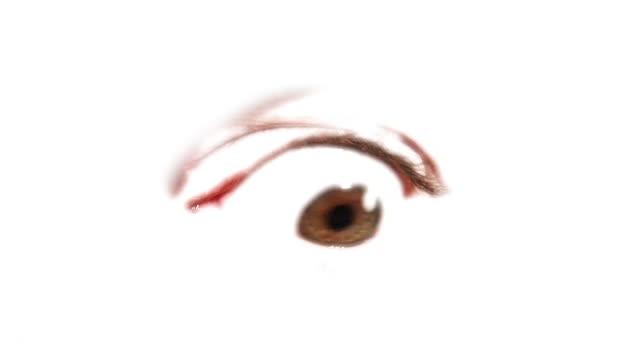 hd loop: rolling eye - looking around stock videos and b-roll footage