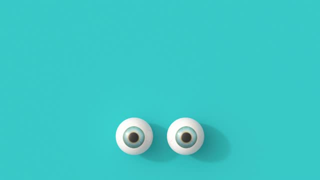 rolling eyes on turquoise background - illustration stock videos & royalty-free footage
