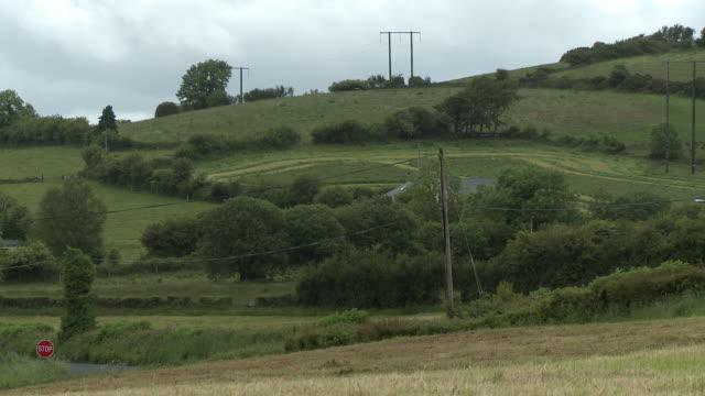 rolling hills of farmland - octagon stock videos & royalty-free footage