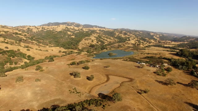 rolling hills of northern california - californian sierra nevada stock videos and b-roll footage