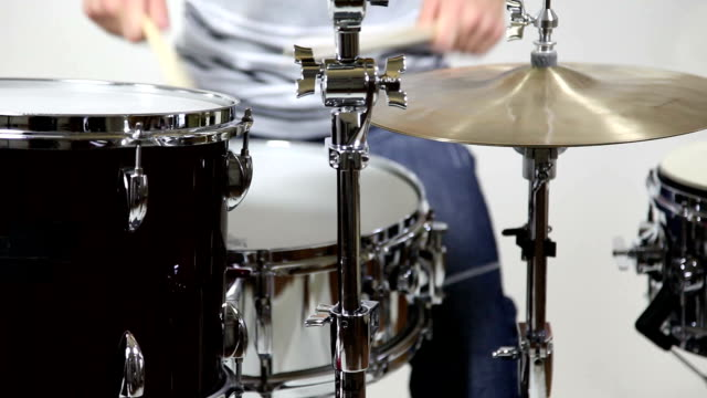 rolling on - drum kit stock videos & royalty-free footage