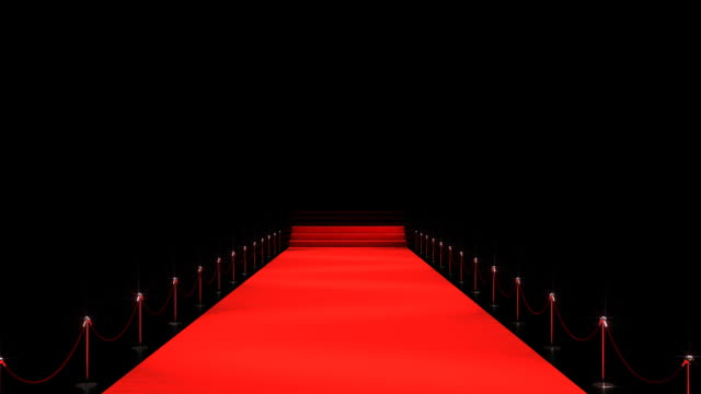 Rolling red carpet, leading to the pedestal (commercial template)