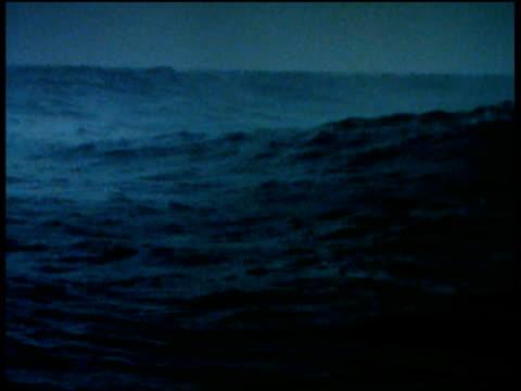 rolling sea dark waters waves splash - dark stock videos & royalty-free footage