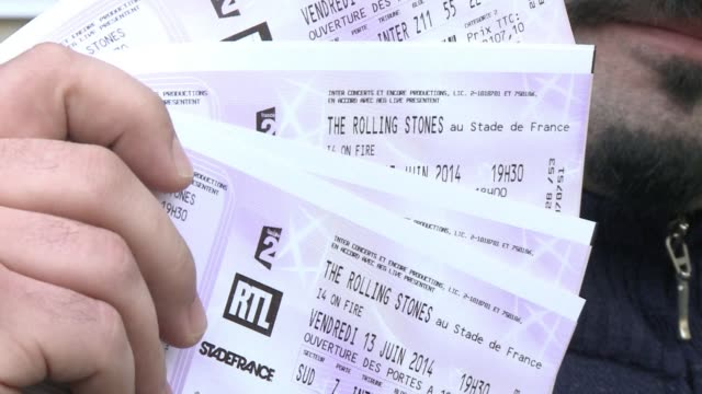 rolling stones fans on friday snapped up 75000 tickets for a paris concert in june in less than an hour clean : satisfaction stones paris gig sells... - ticket stock videos & royalty-free footage