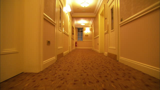 rolling through hotel halls, northern ireland - hotel stock videos & royalty-free footage